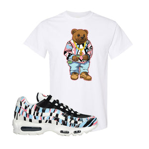 Air Max 95 Korea Tiger Stripe T Shirt | White, Sweater Bear