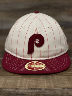 Phillies Retro Fitted throwback phillies colorway 5950 fitted hat | Heritage collection mlb fitted