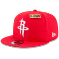 the front of the houston rockets 2018 nba draft on court snapback hat is a pin that says h-town