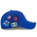 the right side of the philadelphia 76ers 2018 nba draft 9twenty new era dad hat are four patches inspired by the philadelphia 76ers