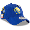 On the front of the 2018 NBA Draft Cap for the Golden State Warriors is the Warriors logo embroidered