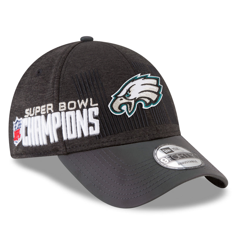 the official philadelphia eagles super bowl champions locker room 9forty dad hat has a structured crown and a bent brim