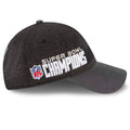 on the left side of the philadelphia eagles super bowl champions dad hat is the super bowl champions lettering embroidered next to the nfl logo