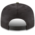 on the back of the philadelphia phillies 2018 memorial day snapback hat is a dark gray adjustable snap