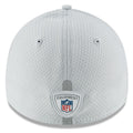 the back of the 2018 nfl training camp pittsburgh steelers stretch fit cap is the nfl equipment shield