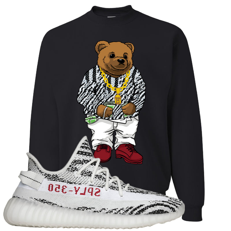 Yeezy 350 V2 Zebra Crewneck Sweatshirt | Black, Biggie Bear