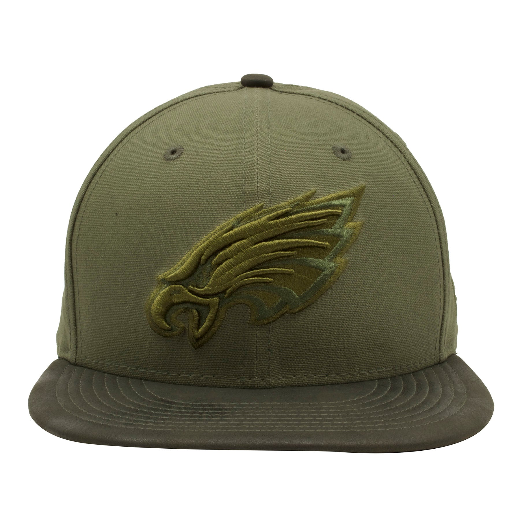new product 40f87 b641d Embroidered on the front of the Philadelphia Eagles tonal green snapback hat  is the Eagles tonal