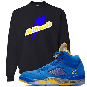 This black and yellow sweater will match great with your Jordan 5 Alternate Laney JSP shoes