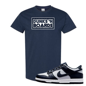 SB Dunk Low Georgetown T Shirt | Dunks N Boards, Navy Blue