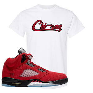 Air Jordan 5 Raging Bull T Shirt | Chiraq, White
