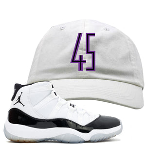 Hook up your pair of Concord 11s with this Jordan 11 Concord sneaker matching white dad hat