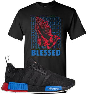 NMD R1 Black Red Boost Matching Tshirt | Sneaker shirt to match NMD R1s | Blessed, Black