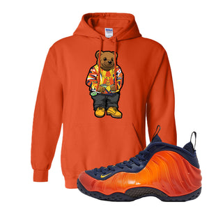 Foamposite One OKC Hoodie | Orange, Sweater Bear