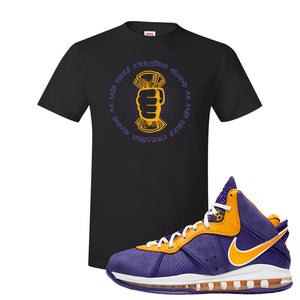 Lebron 8 Lakers T Shirt | Cash Rules Everything Around Me, Black