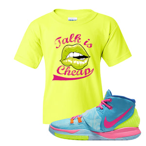 Kyrie 6 Pool Kids T Shirt | Safety Green, Talk is Cheap