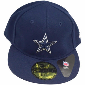 the infant fitted cap dallas cowboys my first fitted is solid navy blue with a navy blue and white dallas cowboys logo embroidered on the front