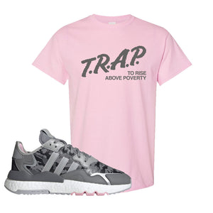 WMNS Nite Jogger True Pink Camo T Shirt | Light Pink, Trap to Rise Above Poverty