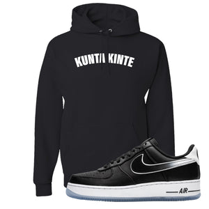 Colin Kaepernick X Air Force 1 Low Kunta Kinte Black Sneaker Hook Up Pullover Hoodie