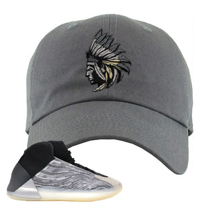 Yeezy Quantum Dad Hat | Dark Gray, Indian Chief