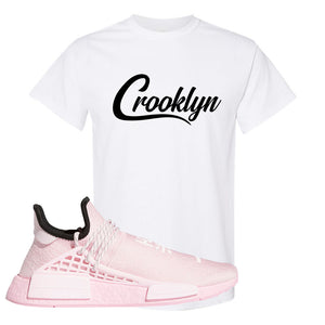 NMD Hu Tonal Pink T Shirt | Crooklyn, White