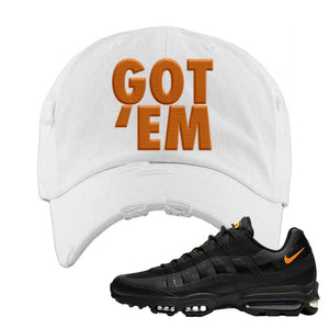 Air Max 95 Ultra Spooky Halloween Distressed Dad Hat | Got Em, White