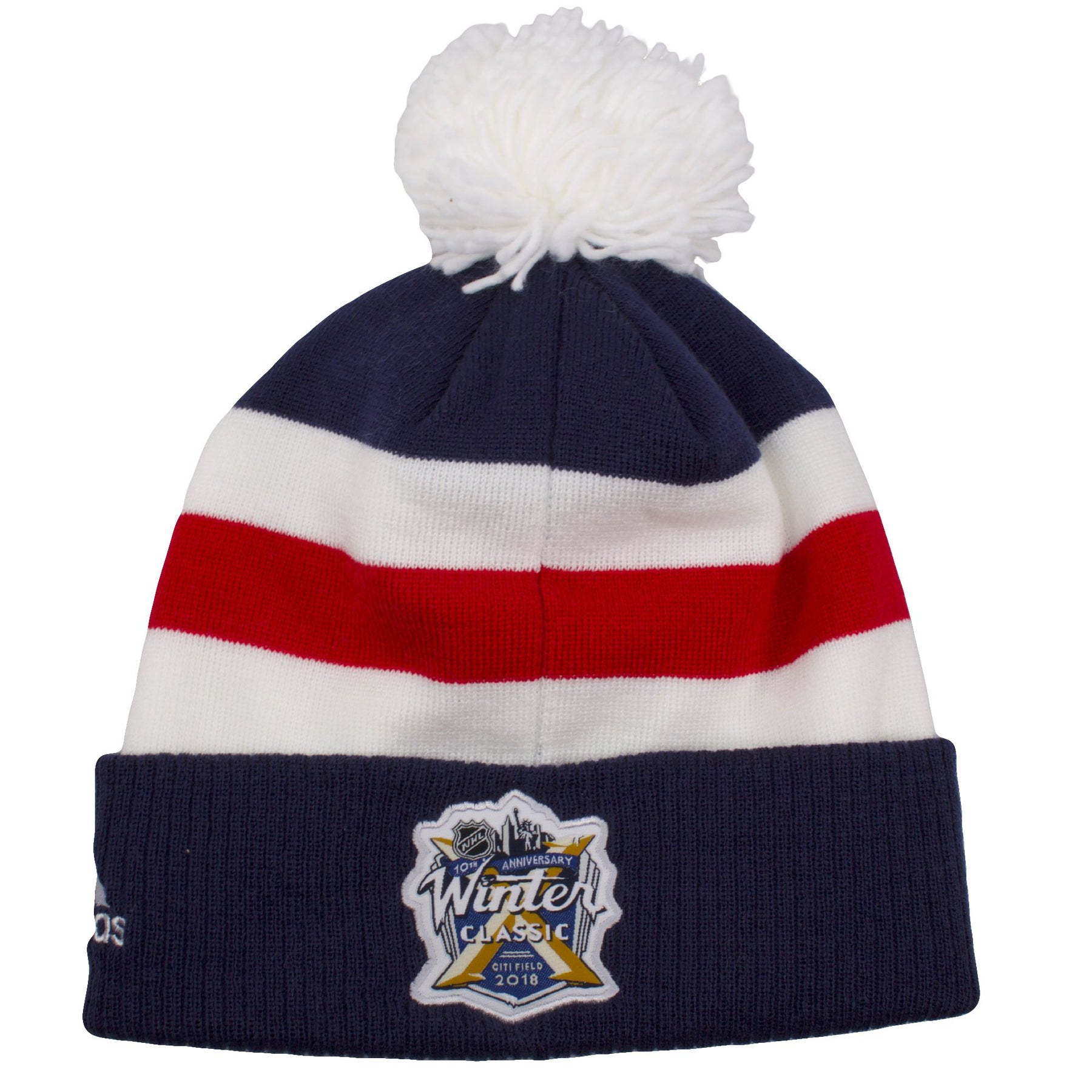 ... The back side of this New York Rangers Winter hat shows the NHL  anniversary logo showing cddd450d0f5