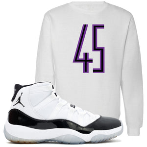 Match the Jordan 11 Concords with this Concord 11 sneaker matching white crewneck