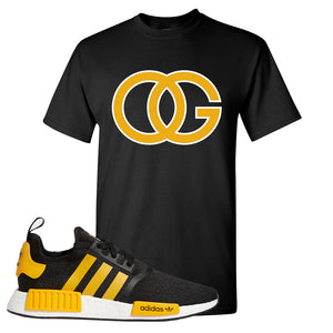 NMD R1 Active Gold T Shirt | Black, OG