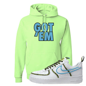 Air Force 1 '07 PRM 'Worldwide Pack' Hoodie | Neon Green, Got Em