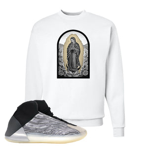 Yeezy Quantum Crewneck | White, Virgin Mary