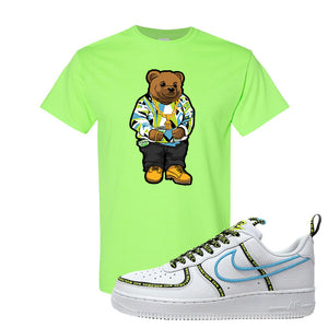Air Force 1 '07 PRM 'Worldwide Pack' T Shirt | Neon Green, Sweater Bear
