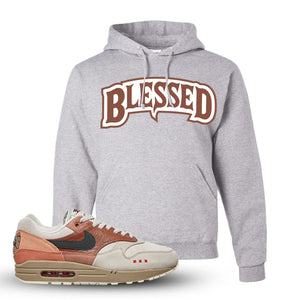 Air Max 1 Amsterdam City Pack Sneaker Ash Pullover Hoodie | Hoodie to match Nike Air Max 1 Amsterdam City Pack Shoes | Blessed Arch