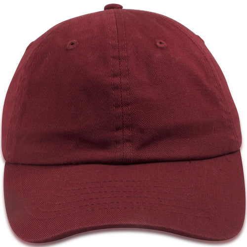 Blank Maroon Kids Adjustable Baseball Cap
