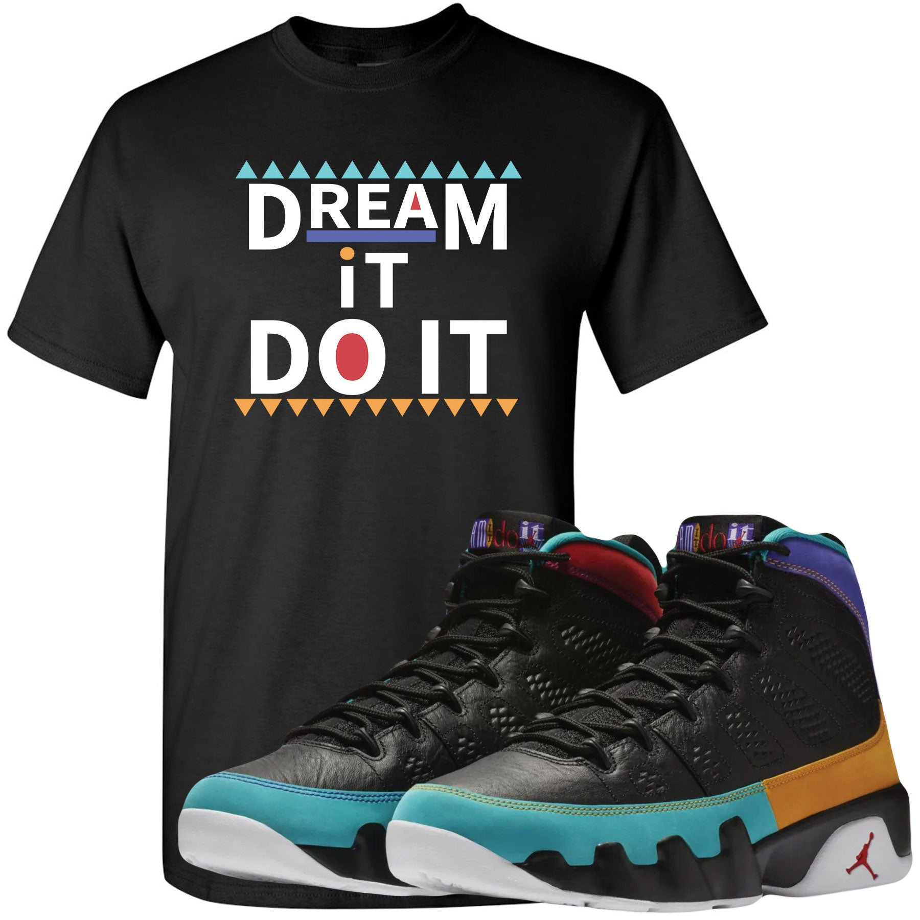 huge selection of 42a45 f7909 ... Shop sneaker matching clothing to match your pair of Jordan 9 Dream It  Do It Sneakers ...