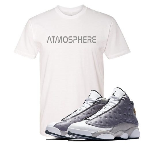"Jordan 13 Atmosphere Grey ""Atmosphere"" White Shirt"