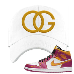 Air Jordan 1 Mid Familia Dad Hat | OG, White