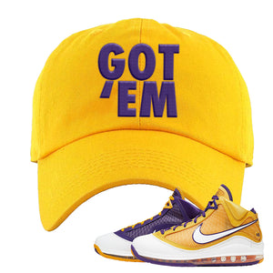 Lebron 7 'Media Day' Dad Hat | Gold, Got Em