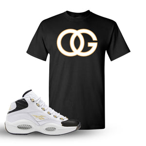 Reebok Question Mid Black Toe T Shirt | Black, OG