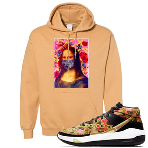 KD 13 Hype Hoodie | Old Gold, Mona Lisa Mask