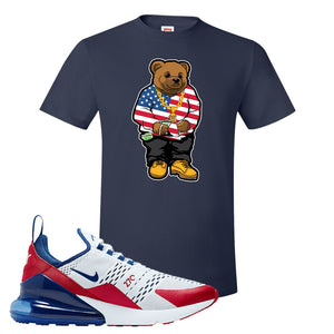 Air Max 270 USA T Shirt | Navy Blue, Sweater Bear