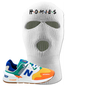 997S Multicolor Sneaker White Ski Mask | Winter Mask to match New Balance 997S Multicolor Shoes | Homies