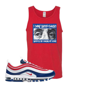 Air Max 97 USA Tank Top | Red, Franklin Eyes