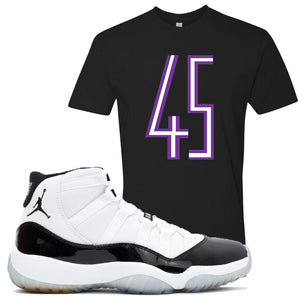 Match your pair of Jordan 11 Concord 45 sneakers with this Concord 11 sneaker matching t-shirt