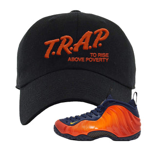 Foamposite One OKC Dad Hat | Black, Trap To Rise Above Poverty