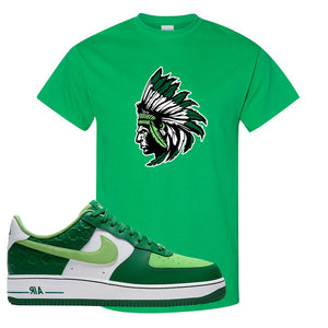 Air Force 1 Low St. Patrick's Day 2021 T Shirt | Indian Chief, Kelly