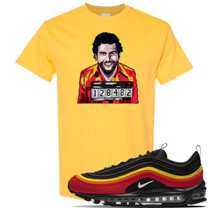 Air Max 97 Black/Chile Red/Magma Orange/White Sneaker Daisy T Shirt | Tees to match Nike Air Max 97 Black/Chile Red/Magma Orange/White Shoes | Escobar Illustration