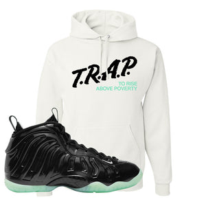 Foamposite One 2021 All Star Hoodie | Trap To Rise Above Poverty, White