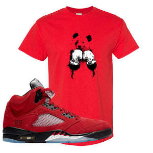 Air Jordan 5 Raging Bull T Shirt | Boxing Panda, Red