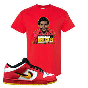 Nike Dunk Low Vietnam 25th Anniversary T-Shirt | Escobar Illustration, Red