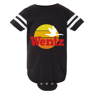 BROAD & MARKET | PHILADELPHIA | WENTZ WAWA | INFANT JERSEY BODY SUIT | BLACK SOLID WHITE